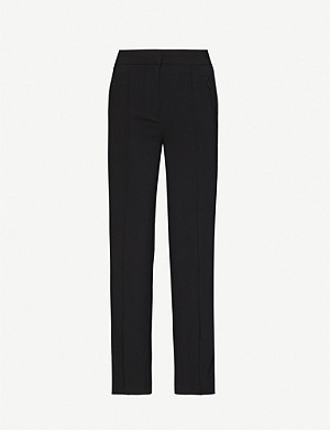 BAPY Wide-leg mid-rise stretch-woven trousers