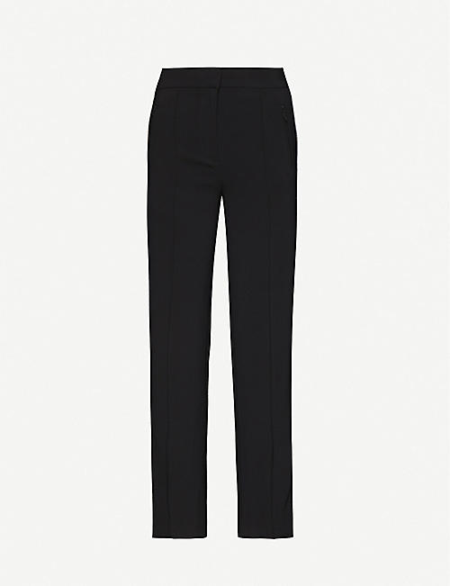 BAPY: Wide-leg mid-rise stretch-woven trousers