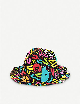 A BATHING APE: Kids Milo banana pool cotton bucket hat