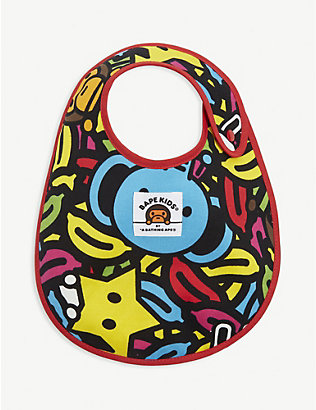 A BATHING APE: Milo banana pool cotton bib