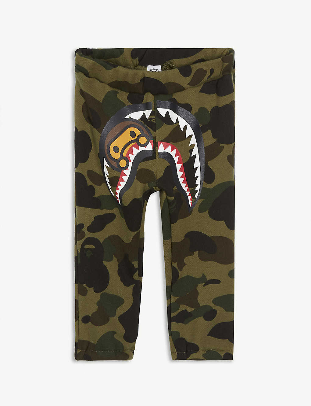 A BATHING APE: Camouflage-print cotton jogging bottoms 6-25 months