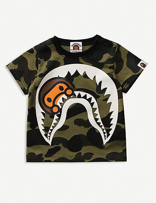 A BATHING APE Baby Milo camouflage-print cotton T-shirt 18 months