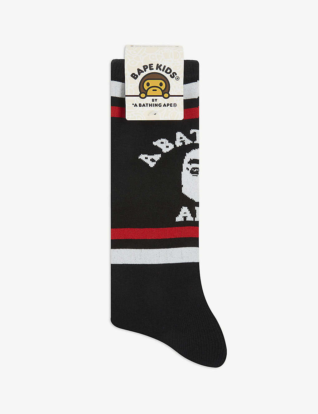 A BATHING APE: College cotton-blend socks