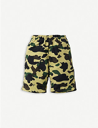 A BATHING APE: 1st Camo Beach woven shorts 4-10 years