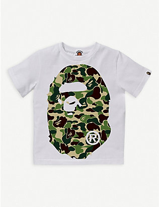 A BATHING APE: ABC Big Ape logo-print cotton T-shirt 4-10 years