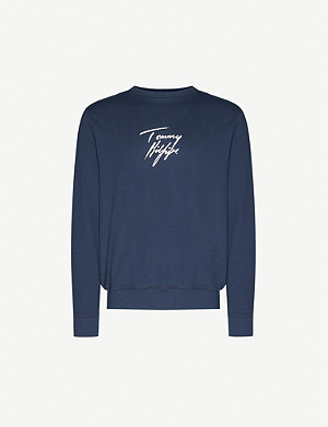 TOMMY HILFIGER The Track stretch-cotton jumper