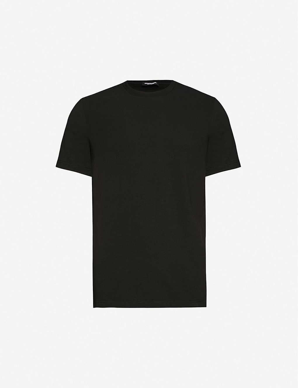 DSQUARED2: Logo-patch stretch-cotton-jersey T-shirt