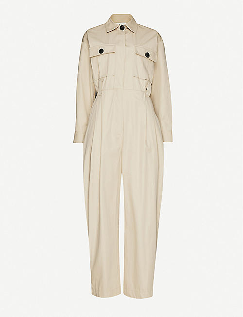 BA&SH Relaxed-fit cotton jumpsuit