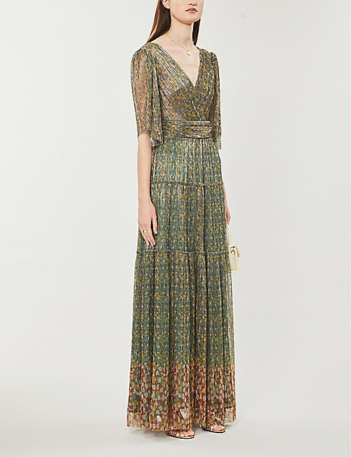 BA&SH Perla graphic-print woven maxi dress