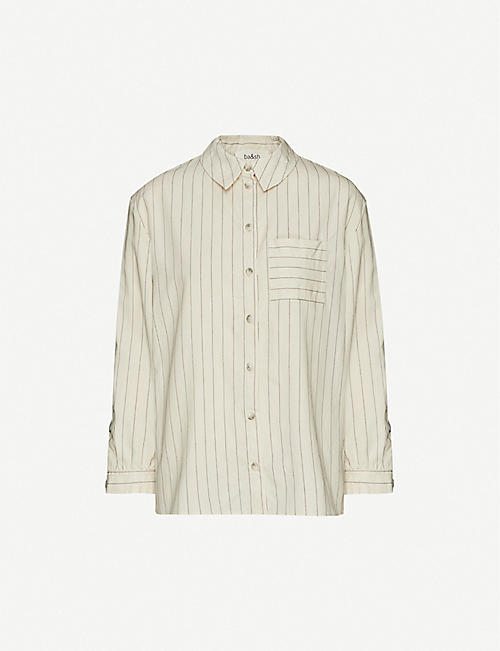 BA&SH Striped loose-fit woven shirt