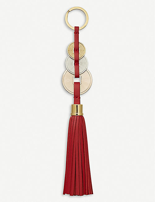 CARTIER Trinity gold-tone, rose-gold tone and palladium tassel key ring