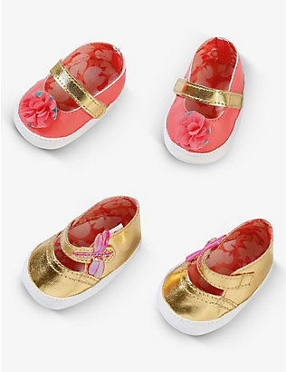 BABY ANNABELL: Floral-print embellished assorted shoes