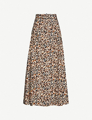 CAMILLA AND MARC Willow graphic-print cotton-silk blend maxi skirt