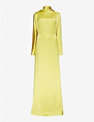 CAMILLA AND MARC: Phoebe funnel-neck satin gown