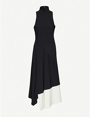 CAMILLA AND MARC: Rory colour-block stretch-crepe midi dress