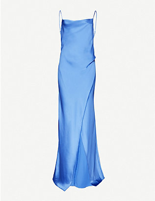 CAMILLA AND MARC: Monroe cowl-neck satin gown