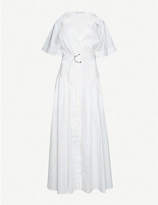 CAMILLA AND MARC: Parker belted cotton-poplin maxi dress