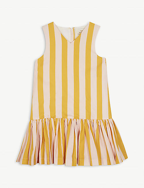 THE MIDDLE DAUGHTER Cotton dropped hem stripe dress 4-14 years