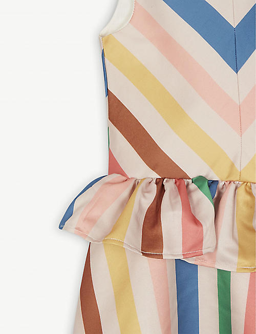 THE MIDDLE DAUGHTER Peplum stripe dress 4-14 years