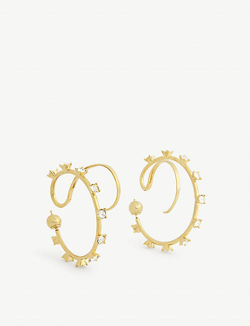 PANCONESI Upside Down sterling silver hoop earrings