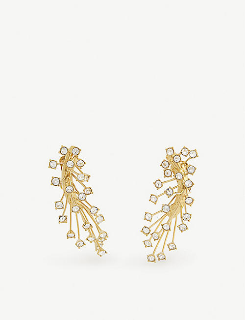 PANCONESI Arch cascade clip-on earrings