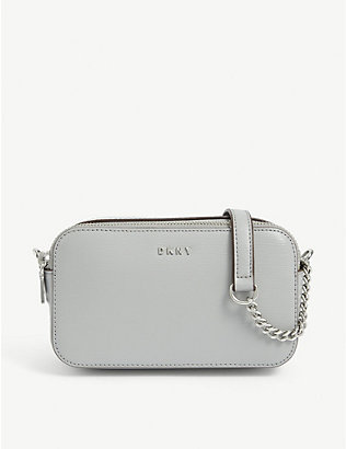 DKNY: Bryant double-zip leather camera bag