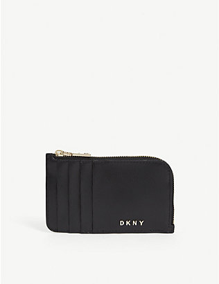 DKNY: Bryant leather card holder