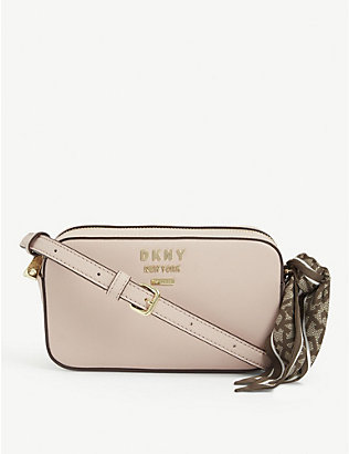 DKNY: Leather camera bag with bow