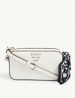 DKNY Leather camera bag with bow