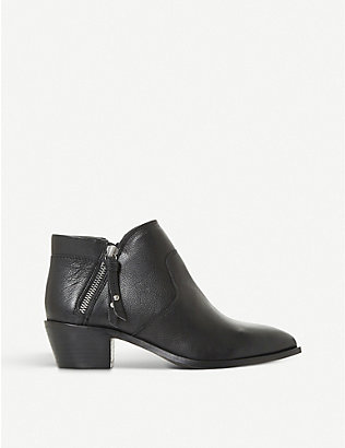 BERTIE: Peonies leather ankle boots