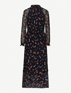 ME AND EM Insect-print georgette maxi dress