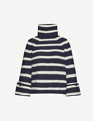 ME AND EM: Detachable-snood wool-blend jumper
