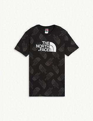 THE NORTH FACE: Logo-print cotton T-shirt 5-16 years