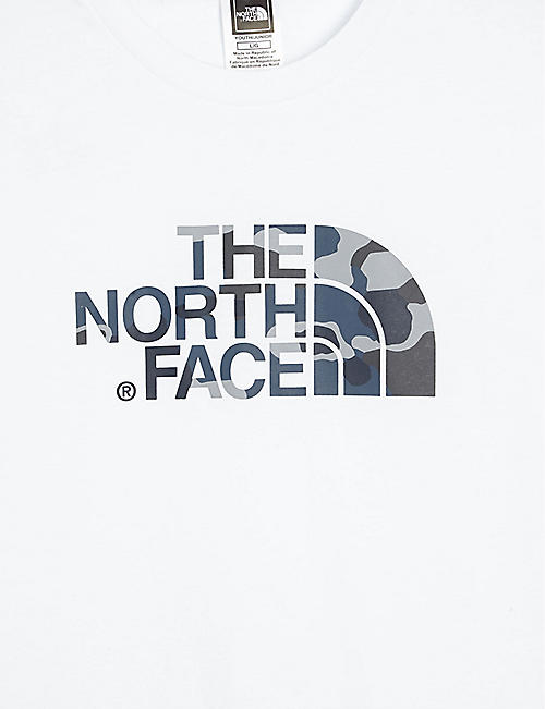 THE NORTH FACE Camouflage logo cotton T-shirt 6-20 years