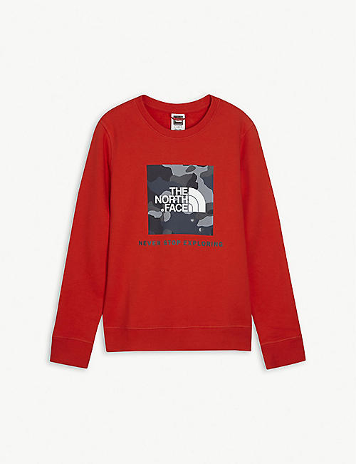 THE NORTH FACE Logo crew neck cotton jumper 5-20 years