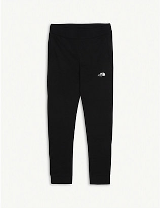 THE NORTH FACE: Fleece logo cotton jogging bottoms 5-16 years