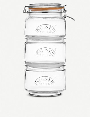 KILNER: Stackable Jar Set