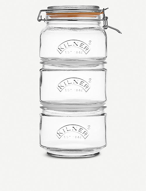 KILNER Stackable Jar Set