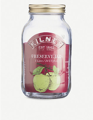 KILNER: Preserve glass jar 1L