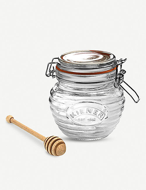 KILNER: Glass honey pot set