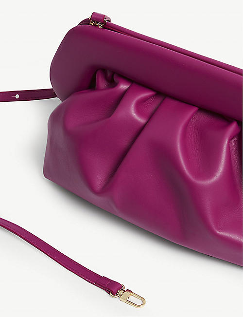 THEMOIRE Cloud leather clutch
