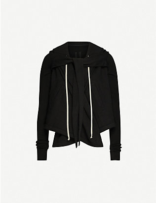 RICK OWENS DRKSHDW: Wrap-over cotton sweatshirt