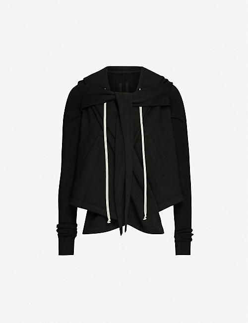 RICK OWENS DRKSHDW Wrap-over cotton sweatshirt