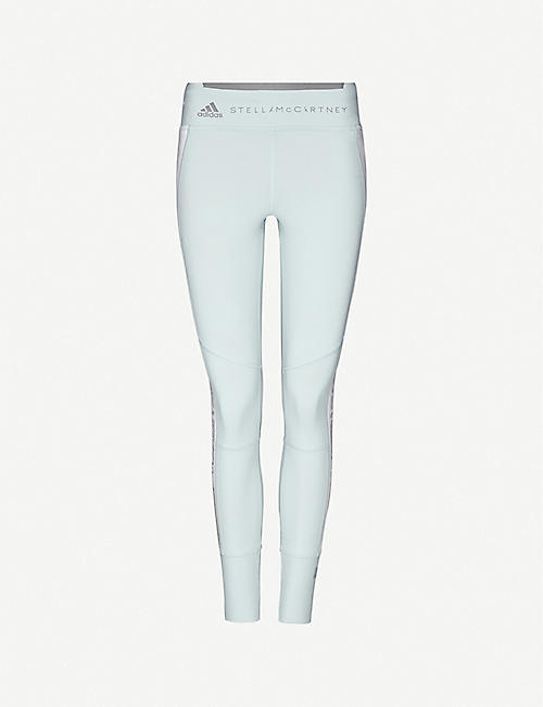 ADIDAS BY STELLA MCCARTNEY: Run animal-print stretch-knit leggings