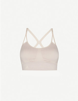 ADIDAS BY STELLA MCCARTNEY: Seamless recycled polyester-blend bra