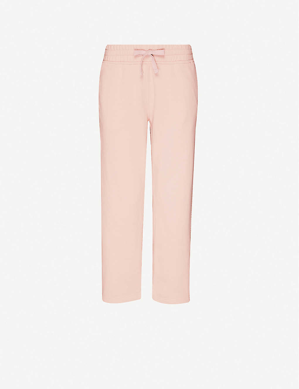 ADIDAS BY STELLA MCCARTNEY: Essentials straight high-rise cotton-jersey jogging bottoms