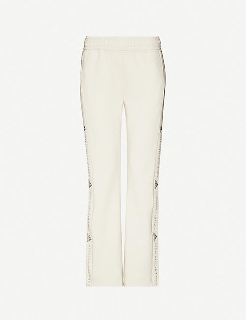 ADIDAS BY STELLA MCCARTNEY Branded flared organic cotton-jersey jogging bottoms