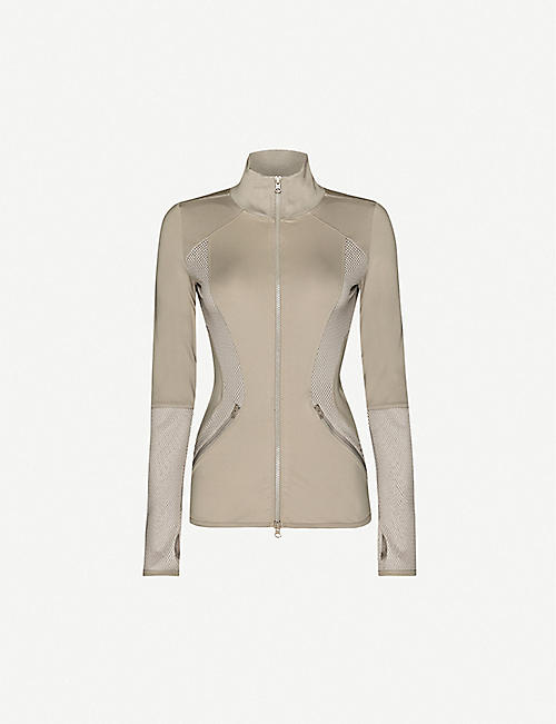 ADIDAS BY STELLA MCCARTNEY: Essentials mesh-trimmed stretch-jersey jacket