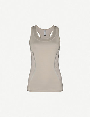 ADIDAS BY STELLA MCCARTNEY: Essentials logo-print stretch-recycled polyester tank top