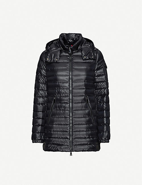 MONCLER: Menthe high-neck shell-down jacket
